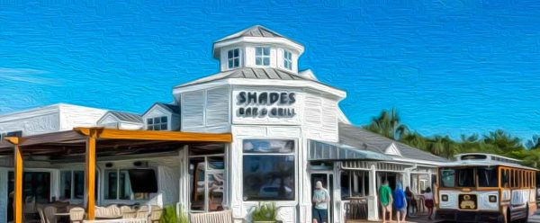 West-End PCB Shades Bar & Grill Oil Painting