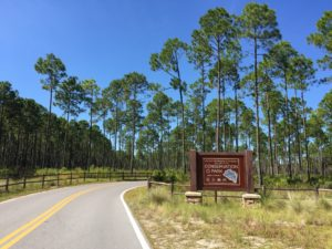 Entrance to Conservation Park in Panama City Beach