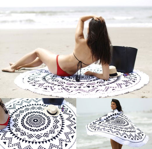 Beach Blanket Roundie Towel