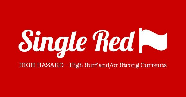 PCB Beach Flag Single RED - High Hazard