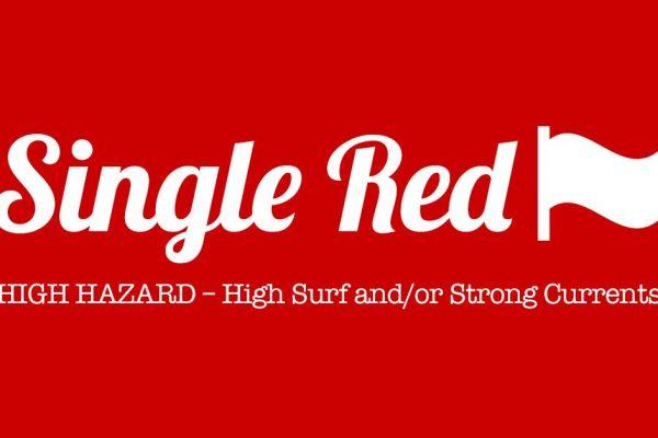 PCB Beach Flag Single RED - High Hazard