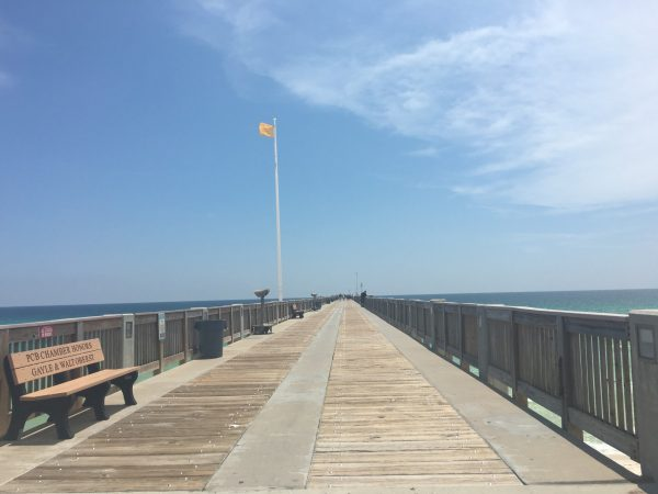 View down Russell Field Pier in Panama City Beach