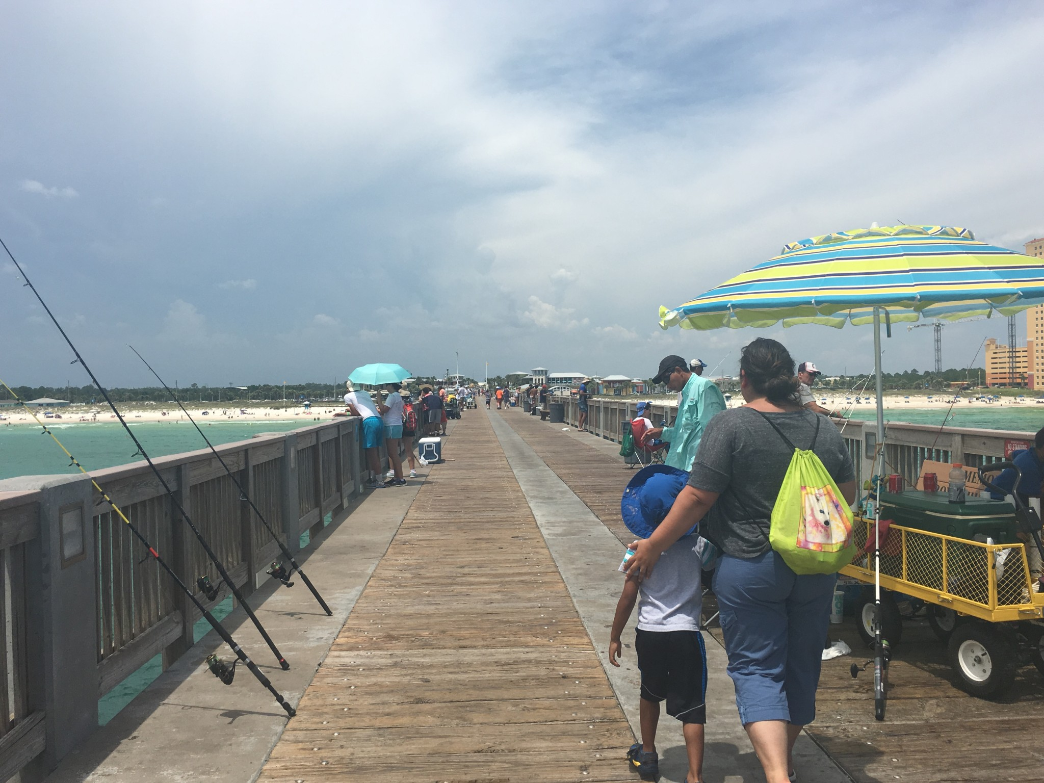 View from Russell Field City Pier Looking Toward Shore - Panama City Beach