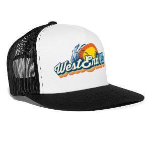 West-End-PCB-Logo-Trucker-Cap-Black-White