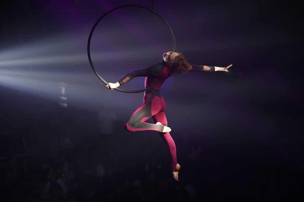 Aerial Hoop Acrobatic Performance at Aaron Bessant Park