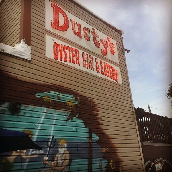 Dustys Oyster Bar and Grill Front Sign