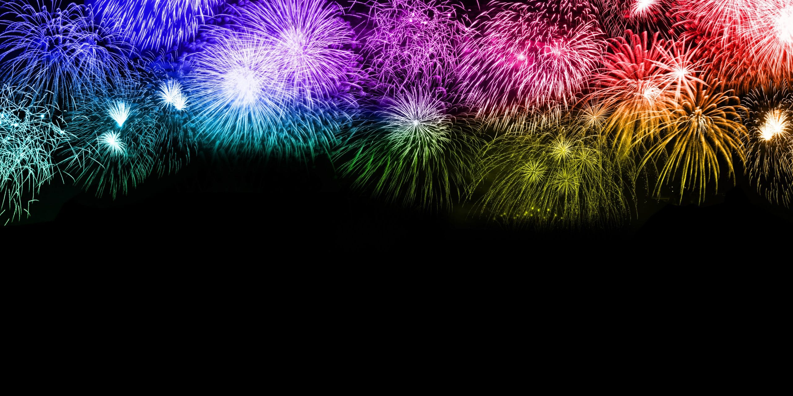 New Year's Eve fireworks background copyspace copy space colorful banner years year firework