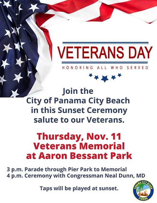 Panama City Beach Florida Veterans Day Parade Info